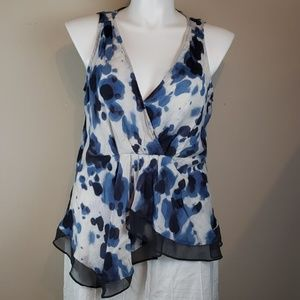 Vera Wang Sleeveless Top Sz Xl
